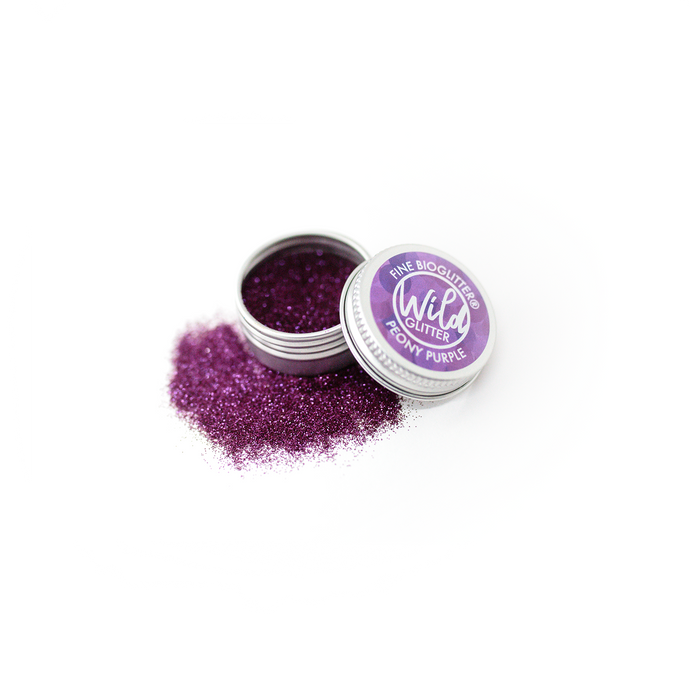 Purple Biodegradable Glitter Size L - Wild Glitter Fine Peony Purple Bioglitter®