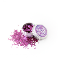 Purple Biodegradable Glitter Size S - Wild Glitter Super Chunky Peony Purple Bioglitter®