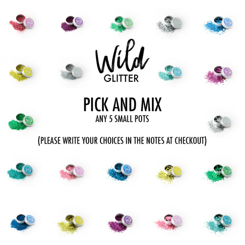 Biodegradable Glitter Small Pick and Mix 5 pack - Wild Glitter Bioglitter® Multipack