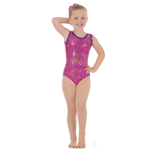 Eurotard Metallic Splatter Tank Leotard (Stores Only)