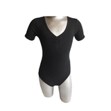 Ballerina Kate Pre-Teen Short Sleeve Pinch Front Leotard