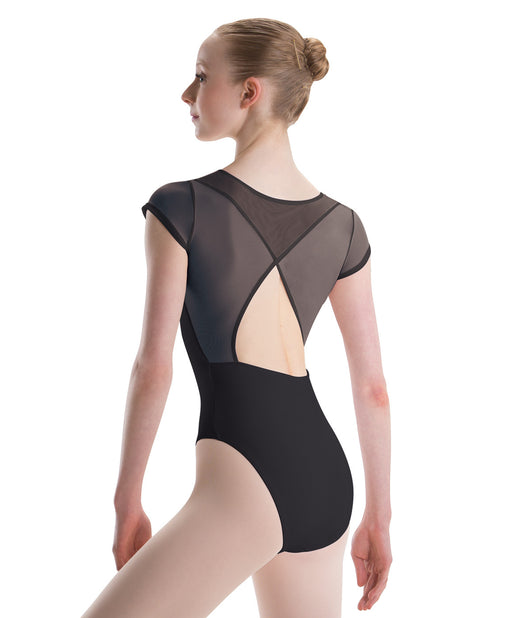 Motionwear Open Wrap Back Cap Sleeve Leotard (Stores Only)