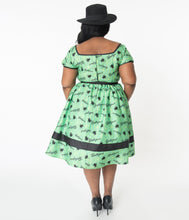 Beetlejuice x Unique Vintage Crawling Critters Print Hannah Swing Dress