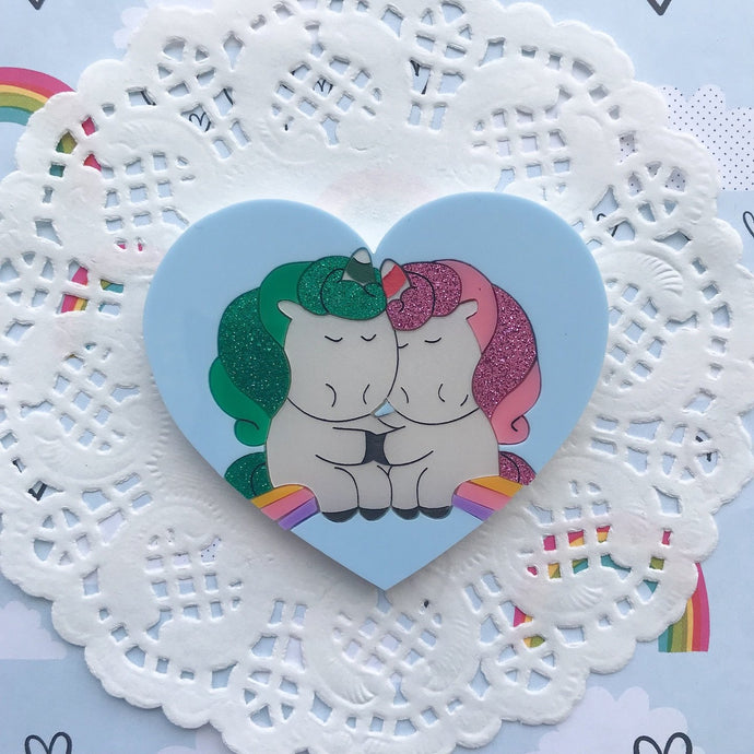 Unicorn Doing Unicorns On A Rainbow by Daisy Jean Floral Designs