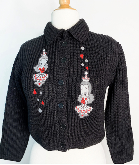 Mischief Made - Dear Clown Sweater in Black