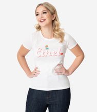 I Love Lucy x Unique Vintage BFF Ethel Fitted Tee