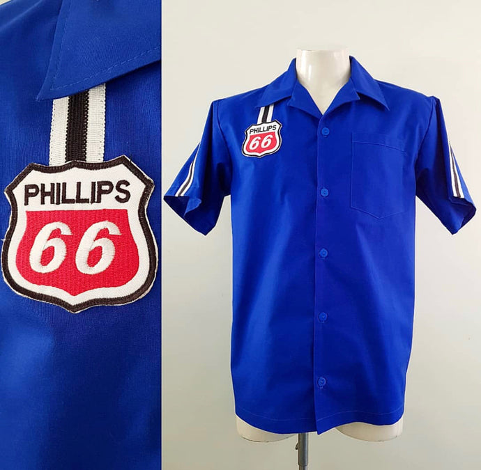 Final Sale - Men's Royal Blue Phillips 66 Garage Shirt Size Small
