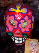 Day of the Dead Skull Votive - Bright Red