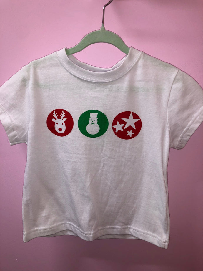 FINAL SALE - Christmas Tee - Childs Size 1