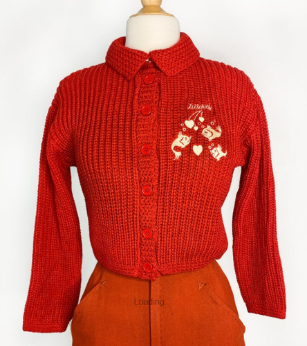 PREORDER - Mischief Made - Kissing Fish Sweater in Red