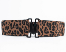 Unique Vintage Leopard Print Cinch Belt
