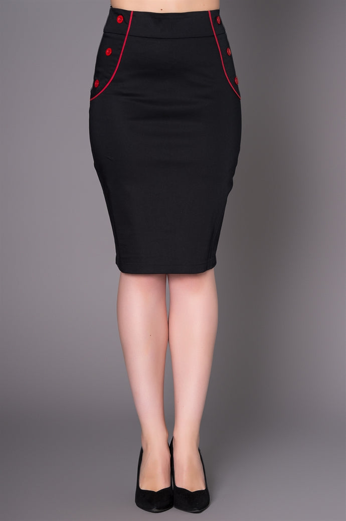 Sheen Matilda Pencil Skirt in Black
