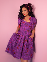 COMING SOON - Tropical Terror Swing Dress in Sea Siren Print - Vixen by Micheline Pitt