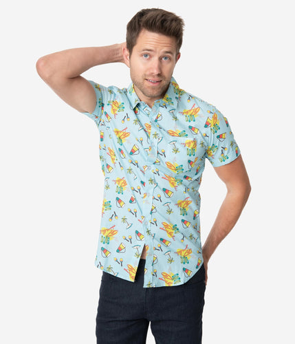 PREORDER-I Love Lucy x Unique Vintage Club Babalu Mens Shirt