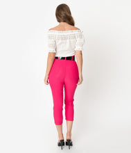 I Love Lucy x Unique Vintage Deep Pink Vineyard Pant
