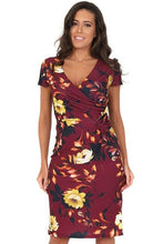 Lady Vintage London - Maisie Dress - Dark Purple Burning Rose Blush - Sizes UK8, UK10 & UK12 Only