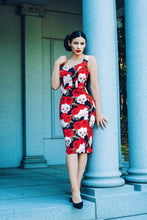 Rizzo Pencil Dress (Skulls and Roses) - KataKomb by Kassandra Love
