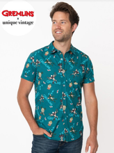 UNIQUE-VINTAGE x GREMLINS SPIKE PRINT MENS SHIRT