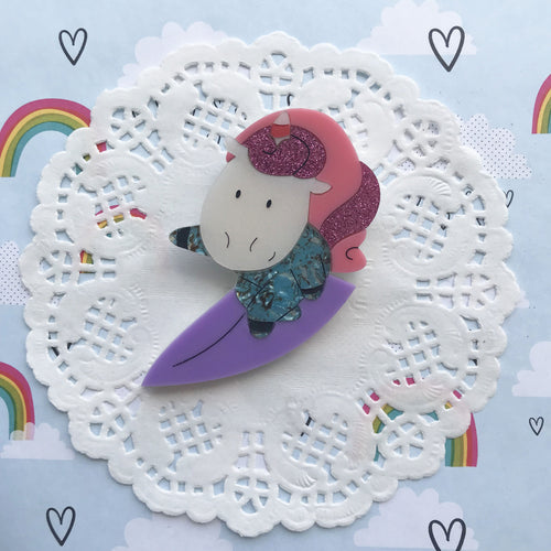 Unicorn Doing Unicorn Surfing by Daisy Jean Floral Designs