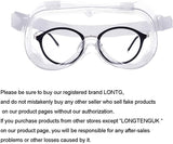 InnooCare 5pcs Goggles Safety Glasses, Anti Fog Dust Eye Protection Glasses, Safety Work Glasses, Over Spectacles Soft Wraparound Eyewear Impact Shock Resist, Dust Proof Vented
