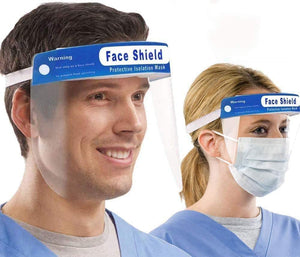 InnooCare Safety Face Shield, 6Pcs Full Protection Wide Visor Resistant Spitting Anti-Fog Lens Lightweight Adjustable Transparent Face Shield Unisex