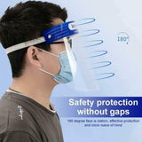 InnooCare Safety Face Shield, 12 Pcs Full Protection Wide Visor Resistant Spitting Anti-Fog Lens Lightweight Adjustable Transparent Face Shield Unisex