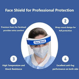 InnooCare Face Shield, 24 Pcs Anti-fog Full Safety Face Shield, Universal Reusable Face Protective Visor for Eye Head Protection, Facial Cover with Anti-Saliva, Windproof, Dustproof Function