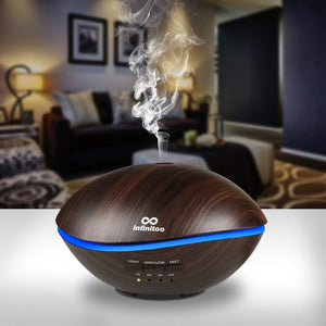 Auto Shut-Off-Golden Wood Grain Ultrasonic Diffuser