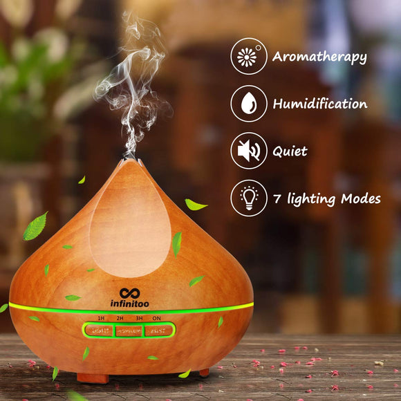 Wood Grain Ultrasonic Aroma Diffuser