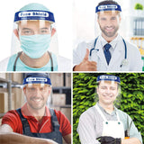 InnooCare 6 PCS Transparent Safety Face Shield, Full Protection Cap Wide Visor | Adjustable | Easy to Clean | Protective Film MUST Be Peeled Off