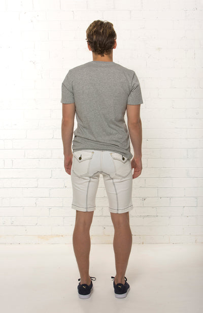 Back Shot of designer denim short by TRi COLOUR FEDERATiON