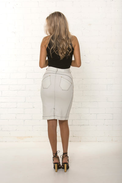 High waisted organic stretch pencil skirt by TRi COLOUR FEDERATiON