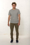 Men's organic Khaki denim jean by TRi COLOUR FEDERATiON