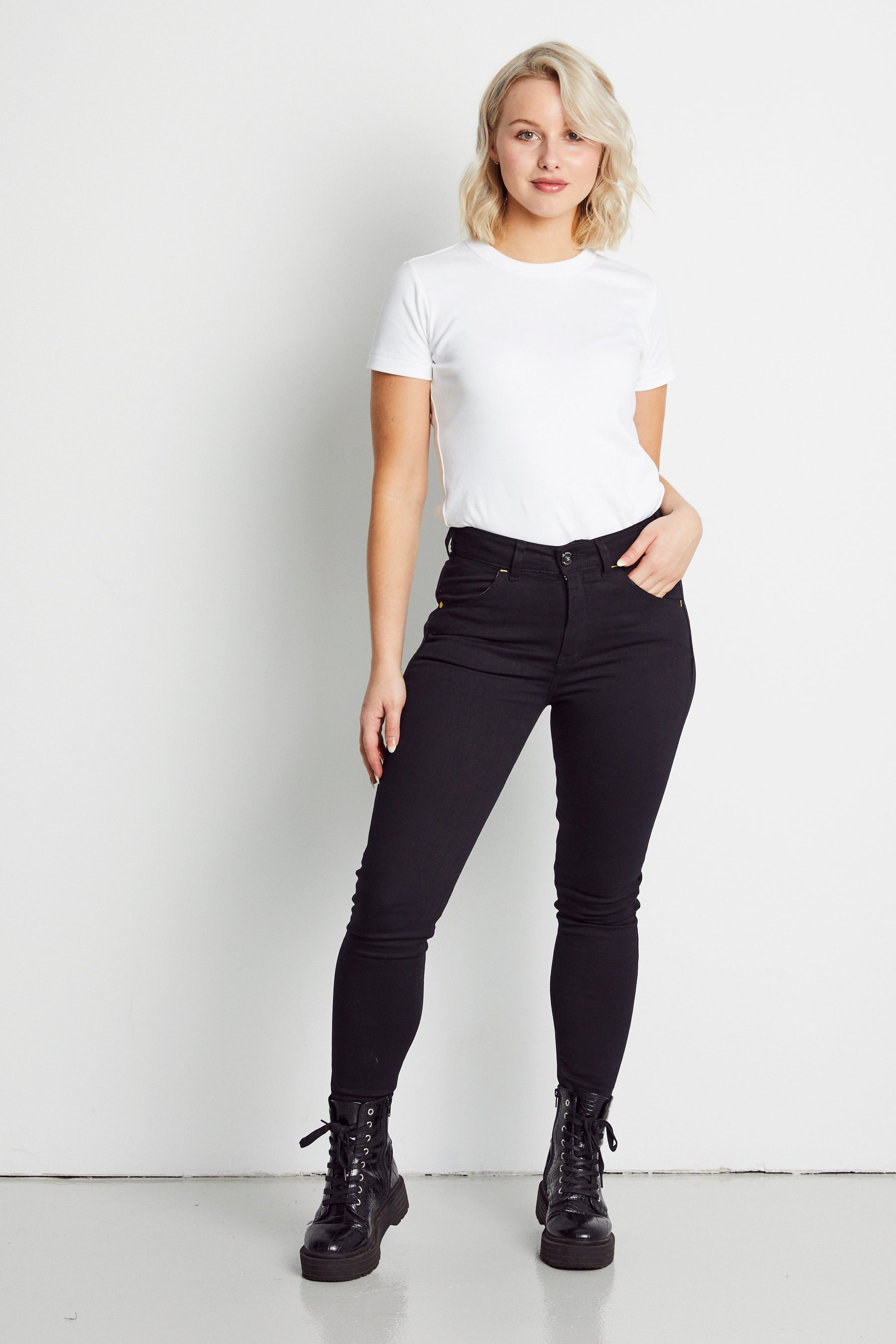 Jet Black High Waisted Jean