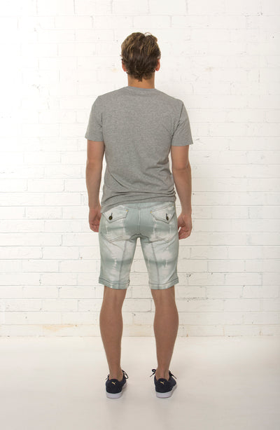 Back view of bespoke men's mid rise organic summer short limited edition by TRi COLOUR FEDERATiON