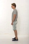Side view of bespoke men's mid rise organic summer short limited edition by TRi COLOUR FEDERATiON
