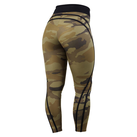 Camo High Tights - Svart Grön Camo