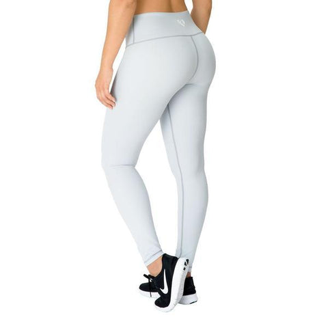 Women's Best - High Waist Leggings Grey/White