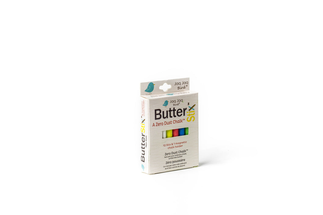 ButterStix Dust Free Chalk Multi Color Jaq Jaq Bird