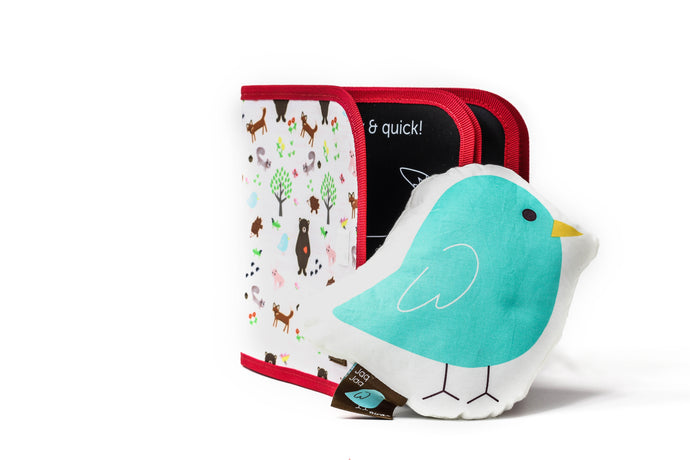 Chalk A Color Reusable Coloring Book and Jaq Jaq Bird Gift Set