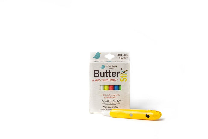 ButterStix Dust Free Chalk and Magnetic Holder Set Jaq Jaq Bird
