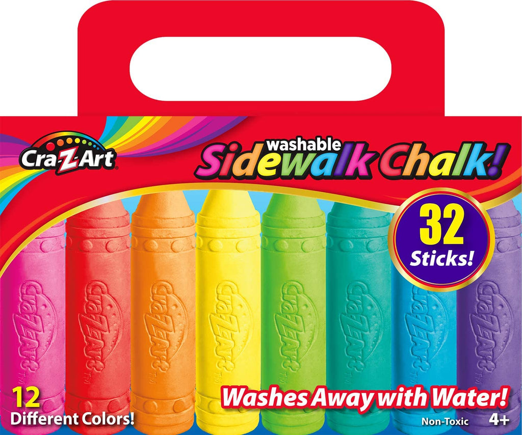 CRA-ZZZZ-ART SIDEWALK CHALK (2 Packs Of 32) | In-Stock, Ships Thursday