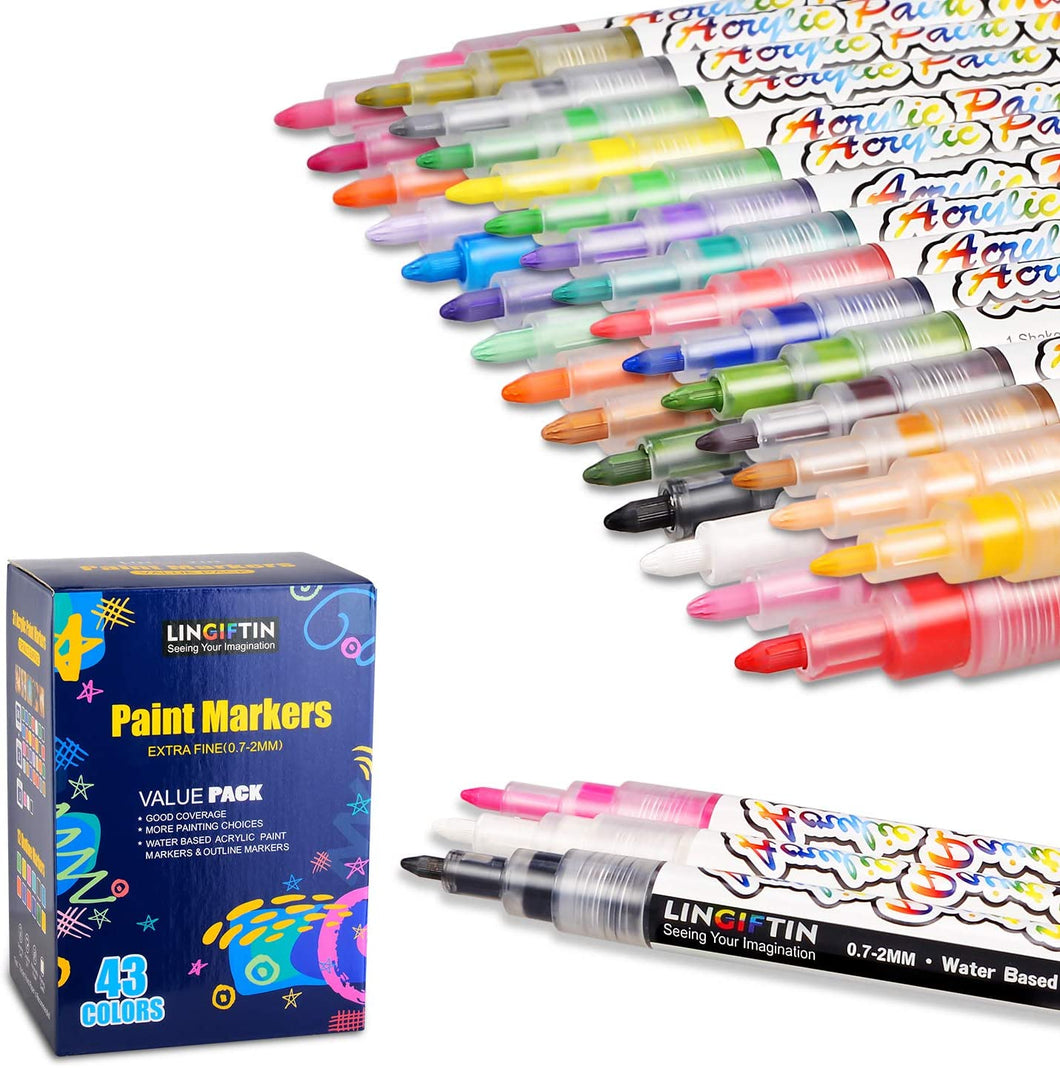 43 Acrylic Paint Pen Set | In-Stock, Ships Thursday