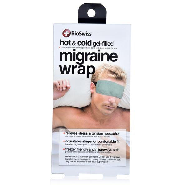 HOT/COLD GEL FILLED PLUSH MIGRAINE WRAP |  In-Stock, Ships Thursday