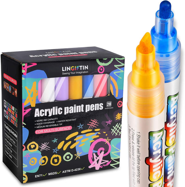 Acrylic Paint Pens (28Pack) | In-Stock, Ships Thursday