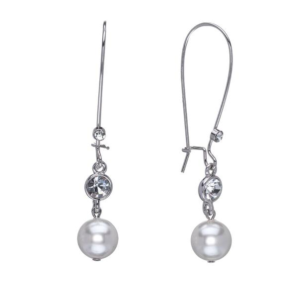 Mothers Day - Kidney earrings with Swarovski crystals