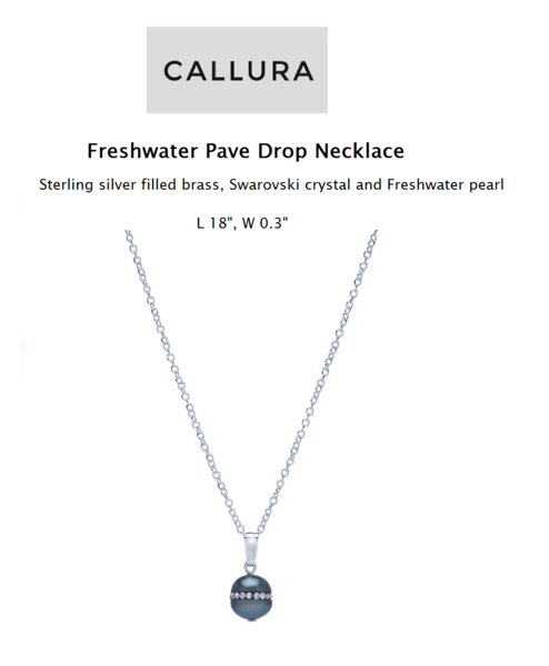 Mothers Day - Freshwater Pave Drop Necklace