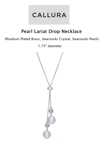 Mothers Day - Pearl Lariat Drop Necklace