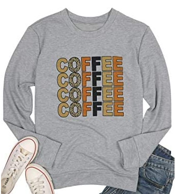 Womans Graphic Coffee Sweatshirt | In-Stock, Ships Thursday