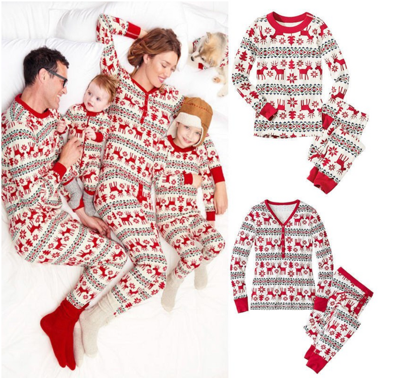 Christmas Family PJ Set (Elk Print)
